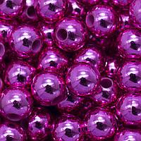 Бусины Акриловые UV Покрытие, Глянцевые, Круглые, Цвет: Сиреневый, Диаметр: 10мм, Отверстие 2.5мм, около 50шт/25г, (УТ0005593)