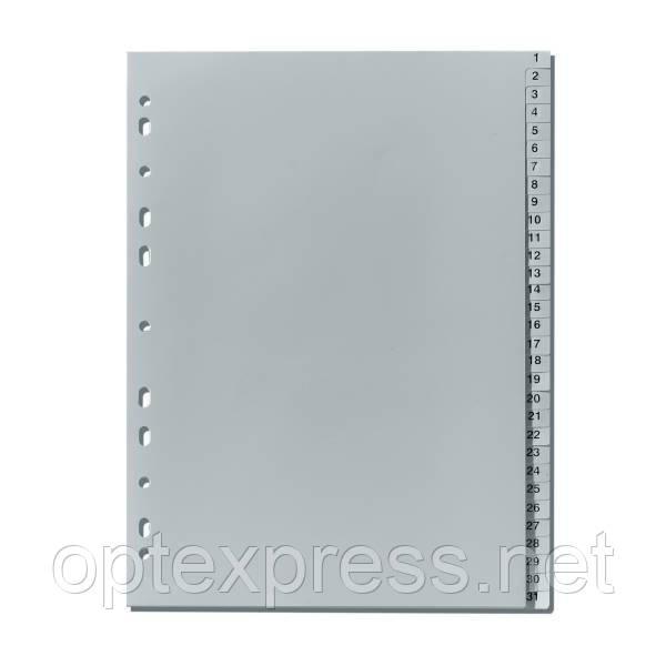 Разделители  пластиковые 1-31 формата A4 FALKEN 77107