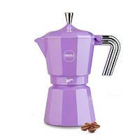 Кофеварка гейзерная фиолетовая на 3 чашки RISOLI ZARINA 01010Z/3TRS0