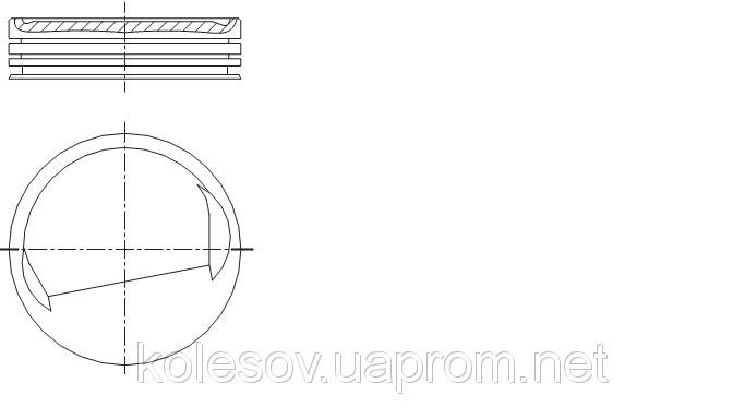 Поршни  FORD  Sierra 1.8 CVH д.80мм