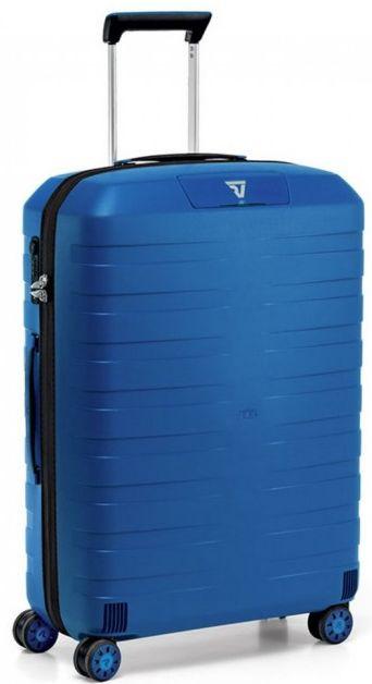 Большой чемодан на 4-х колесах из поликарбоната Roncato Box 5512, 5512/18, голубой, 83 л.
