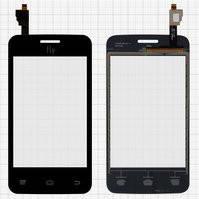 Сенсорный экран для мобильного телефона Fly IQ434, черный