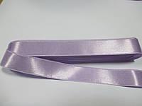 Стрічка атласна  двостороння 2 см ( 10 метрів), бузкова пастельна G-02-490