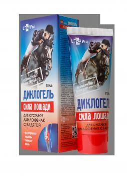 """Гель Диклогель """"Сила лошади"""" противовоспалительный и обезболивающий препарат для суставов"""