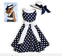 Платье в горох для девочки
