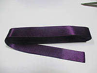 Стрічка атласна  двостороння 2 см Лента атласная двухсторонняя.( 10 метрів), фіолетова , сливова