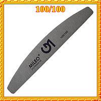 «Golden Mileo» Пилка полу-овальная 100/100, для искусственных ногтей