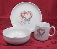 Набор посуды для детей 3пр. Cmielow Sweet Heart 6503T06E2B124