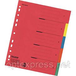 Разделители MAXI цветные картонные 1-5 формата A4 FALKEN 80002009