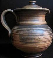 Кувшин глиняный  без декора 1 л