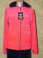Спортивный костюм велюровый коралловый, фото 1