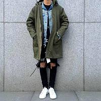 Длинная куртка с капюшоном - парка swag