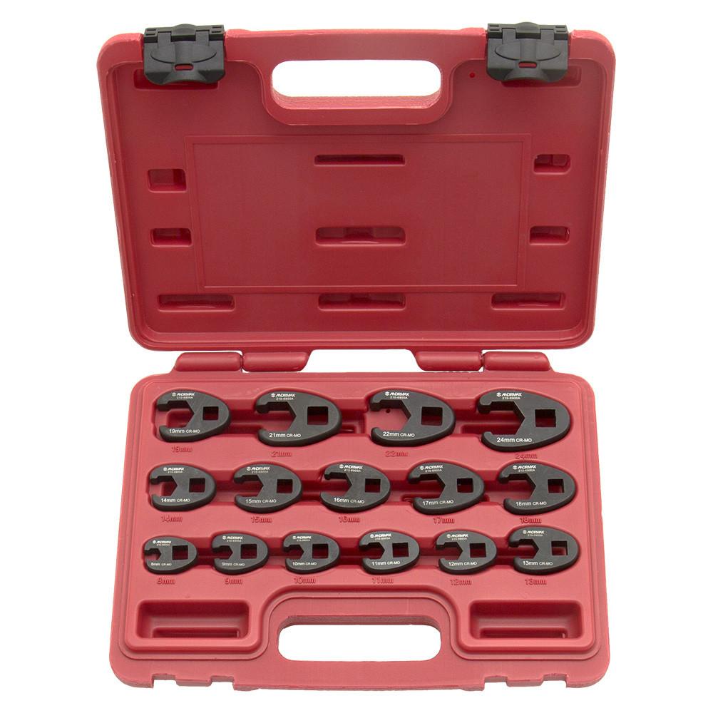 Набор ключей разрезных под вороток, 8-24 мм ANDRMAX