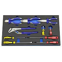 Набор отверток и шарнирно губцевого инструмента, 10 предметов