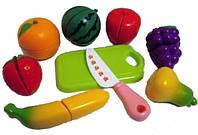 Фрукты и овощи на липучке с детским ножом (3014AB)