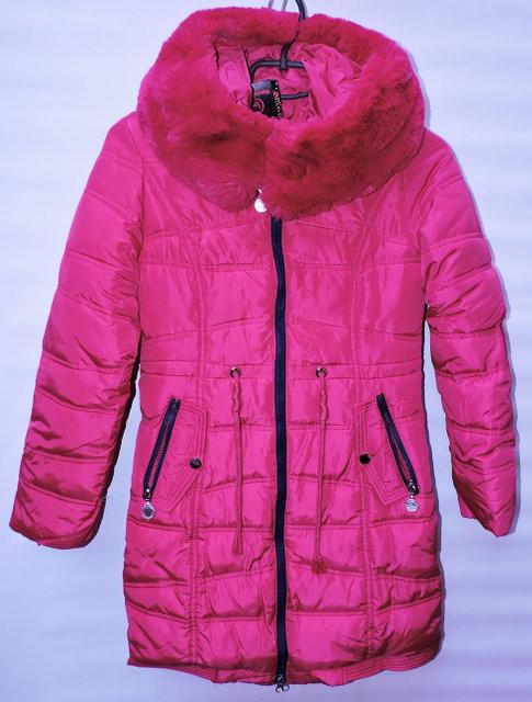 Зимове пальто для дівчинки 6-14 років Black Red рожеве - Камала в  Хмельницком 54910be10b50c