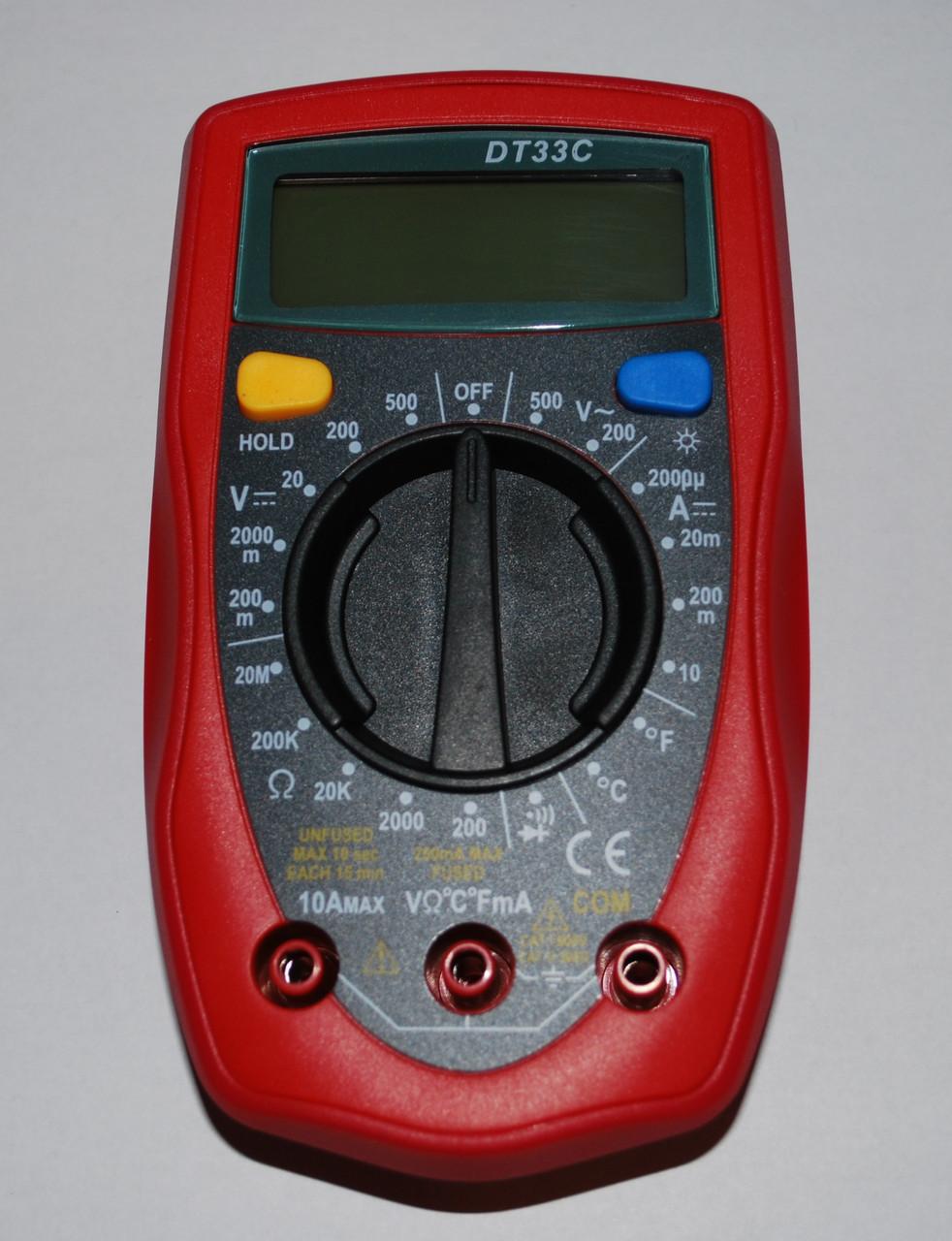 Цифровой мультиметр тестер DT33C, А282
