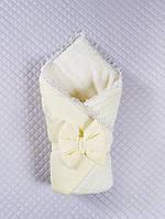 Конверт-одеяло на выписку с кружевом Дуэт