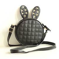 Стильная круглая мини-сумочка с ушками