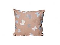 Подушка з наволочкою декор Метелик гобелен бежевый 40*40см