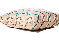 Подушка з наволочкою декор Волна голубой 40*40см