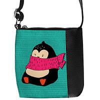 Стильная сумка для девочки с пингвином