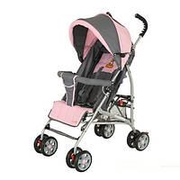 Детская коляска трость mini Quatro, розовая - серая