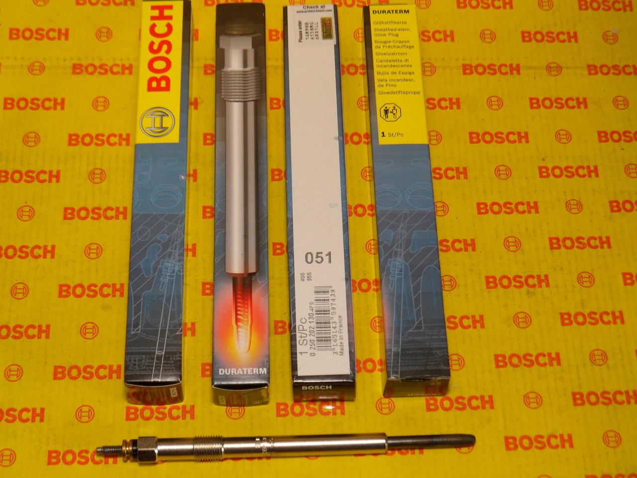 Свеча накала  BOSCH 0250202130,0 250 202 130,