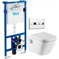 Комплект инсталляция Roca 89009000 с унитазом GAP 346477000 + кнопка 890096001 + сиденье 801472004