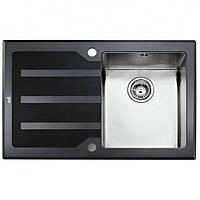 Мойка для кухни Teka Lux 1B 1D LHD 78 12129007 полированная, черное стекло