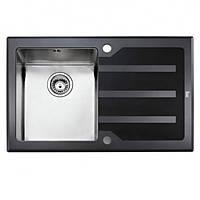 Мойка для кухни Teka Lux 1B 1D RHD 78 12129006 полированная, черное стекло