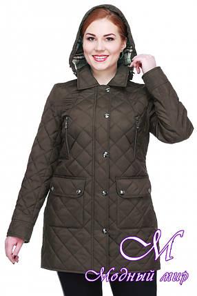 Женская весенняя куртка батальных размеров (р. 48-64) арт. Азалия, фото 2