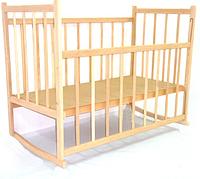 Детская кроватка Виктория- 3  дуга, ольха, опускная боковина