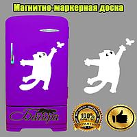 Доска магнитно-маркерная на холодильник Кот Саймона с бабочкой