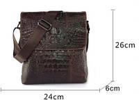 Кожаная мужская сумка под крокодила