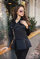 Куртка женская Неопреновая стильная чёрная