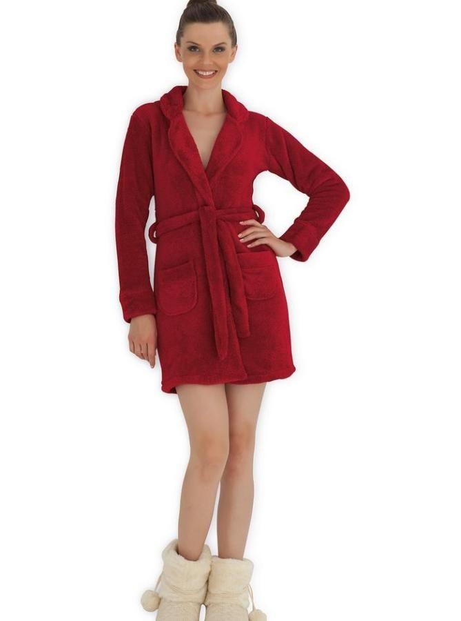 Короткий жіночий халат для дому на довгий рукав HAYS 3033 M