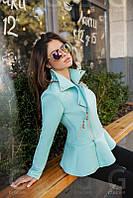 Куртка женская Неопреновая стильная голубая