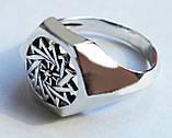 Кольцо серебряное Звезда Эрцгамма 30239, фото 2