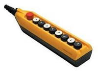 Крановый пульт управления 9-кнопочный, (6 кноп.+ кнопка с ключом авар.стоп d=30mm) 1 скорость PV9Е30В2222А20