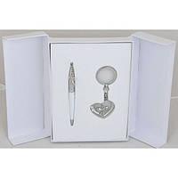 Набор подарочный LANGRES Love Белый (ручка шариковая и брелок), LS.122017-12