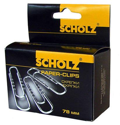 """Скрепки """"Scholz"""" 50мм 100штук никель SOZ4703, фото 2"""