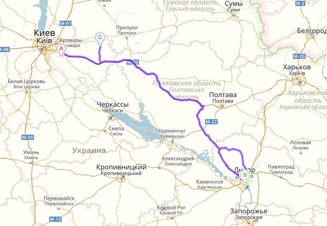 Борисполь - Днепр - Згуровка