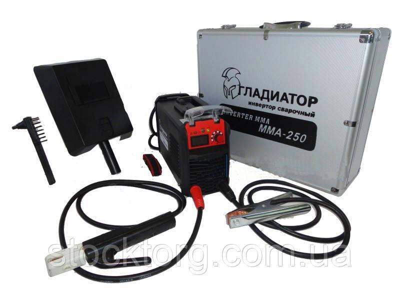 Сварочный инвертор ГЛАДИАТОР Mini MMA-250 (алюминиевый кейс)