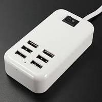 Адаптер на 6 USB HUB хаб зарядное устройство А233