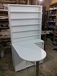 Стол для маникюра с огромной тумбой и стеллажом А41, фото 2