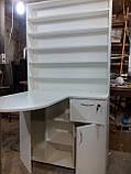 Стол для маникюра с огромной тумбой и стеллажом А41, фото 3
