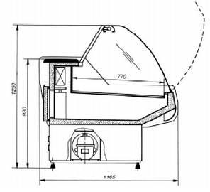 Холодильная витрина для магазина Cold W-20 N , фото 2