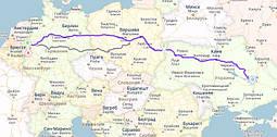 Доставка металлических изделий с Германии в Украину Ратинген, Германия - Дуйсбург, Германия - Ягодин - Днепр, Украина
