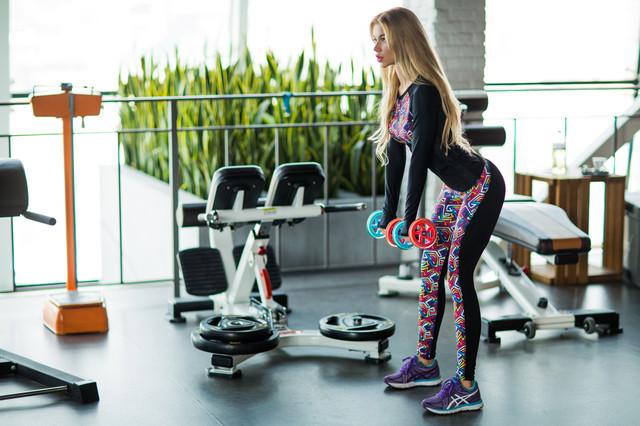 леггинсы Designed For Fitness для фитнеса Rainbow